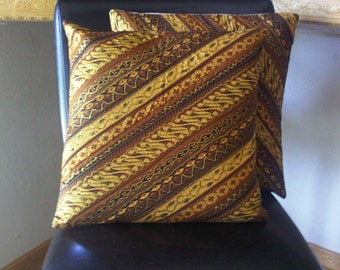 Set 2 Javanese Batik Ethnic quilted pillow cover