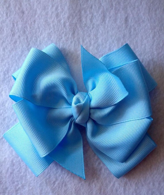 """4"""" LIGHT BLUE Boutique Bow"""