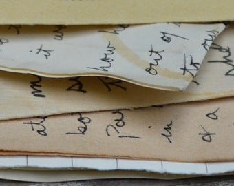 a year of mail. Twelve handwritten letters.
