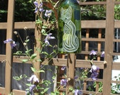 Cat Windchime - Upcycled Wine Bottle