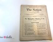 WW1 - 1917 Publication Issue  of The Nation Press - Advertisements, News, Events etc. New York - Antique Ephemera