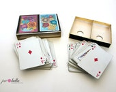 Vintage Playing Cards - Congress - Floral Pattern - Double Deck Playing Cards