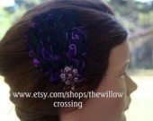Black and Purple Feather Pad Hair Clip