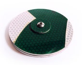 Cyclesign Bicycle Wheel Reflector Large - Green, Recycled Bike Accessory