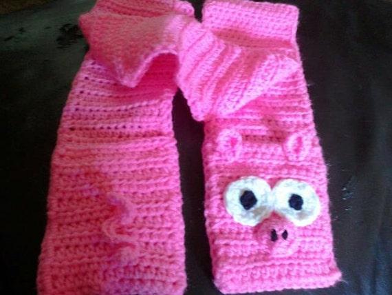 Pink Piggy Scarf w/round features