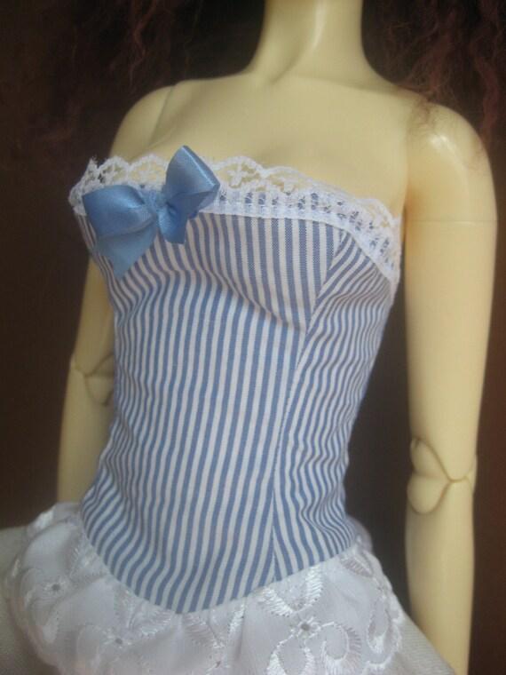 white&blue bjd corset sd size