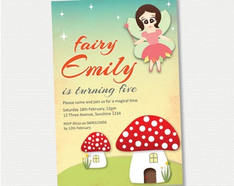 Fairy Birthday Invitation - DIY Printable