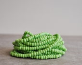 lime green seed pony beads matte finish size 6 (6 strands)  bohemian beads,Spiritual Jewelry Making Supplies