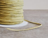 dijon mustard faux suede 3mm x 1mm cord (5 yards)