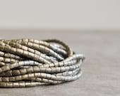 african short tube beads 1 strand ethiopian silver