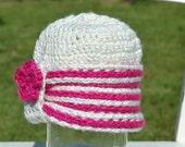 Knit-Look Baby Cloche, Crochet Baby Cloche