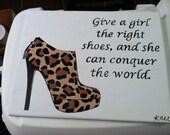 Marilyn Monroe leopard shoe quote