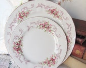 Vintage Paragon Rose Bouquet Bread & Butter and Dinner Plates