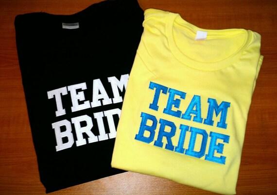 Team Bride Wedding Party Tshirts
