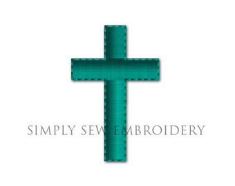 Religous Cross Machine Embroidery Design No. 08