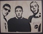 Scroll Saw Woodwork - Beastie Boys Portrait