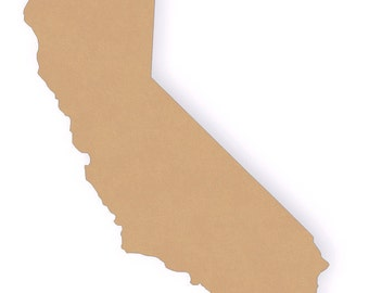 "13"" Tall California Wood Craft Cutout Shapes"