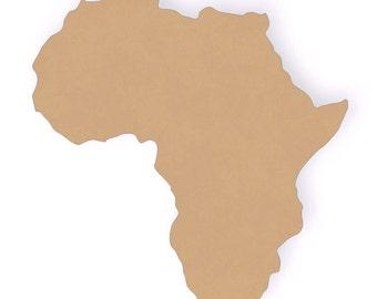 "12"" tall Africa Wood Craft Cutout Shape"