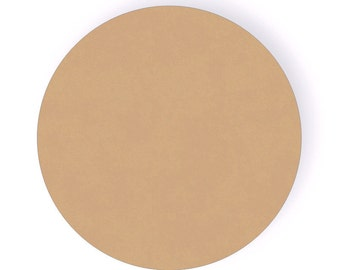 "9 Inch Circle Wood Craft Cutout Shape - 1/4"" thick"