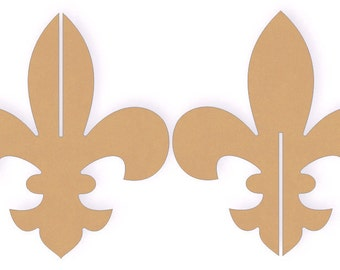 "12"" Tall Interlocking 3D Fleur De Lis Wood Cutout Shape"