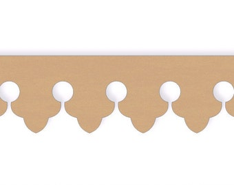 Fleur De Lis Running Trim Molding - Single Piece