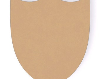 One 12 Inch Wooden Shield Cutout Shape