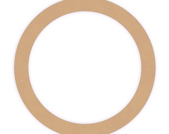Quantity of three 10 inch Unfinished Wood Ring Cutout Shape