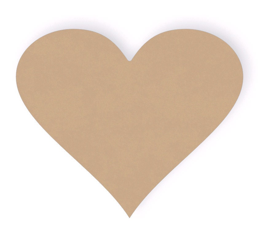 Three 12 inch wide Wood heart Cutout Shapes