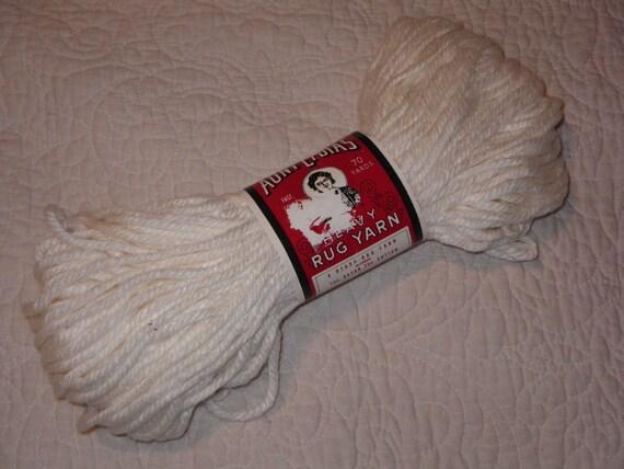 Vintage Aunt Lydia's Heavy Rug Yarn in White