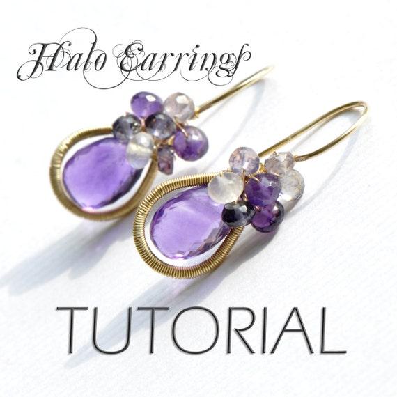 Jewelry Tutorial - Earrings  oOo The Halo Earrings oOo  Emily Gray -  Wirework Jewelry Making