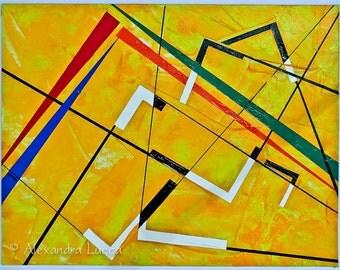 Angular - Original Abstract Painting