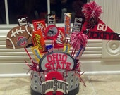 Ohio State Candy Bouquet