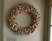 Custom Large 18 Inch Recycled Wine Cork Wreath Wine Lovers Gift Decoration