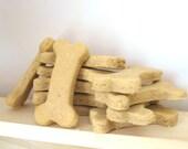 All Natural Dog Treats - Organic Gourmet Dog Biscuits - Peanut Butter Banana - 6 oz - Bone Shaped Dog Treats