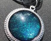 Nfu-Oh 52 over Zoya Ibiza - 1'' Circle Nail Polish Jewelry Pendant