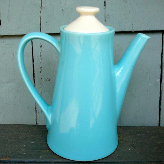 Mid Century Modern Aqua Teapot by USA