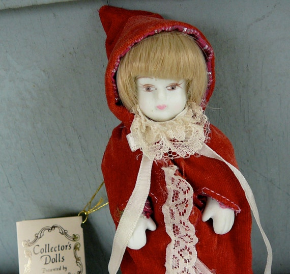 Red Riding Hood Doll Porcelain Ornament