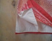 Rose Floral Cotton Skirt . Vintage Ann Taylor . Summer Skirt . Rose and Red