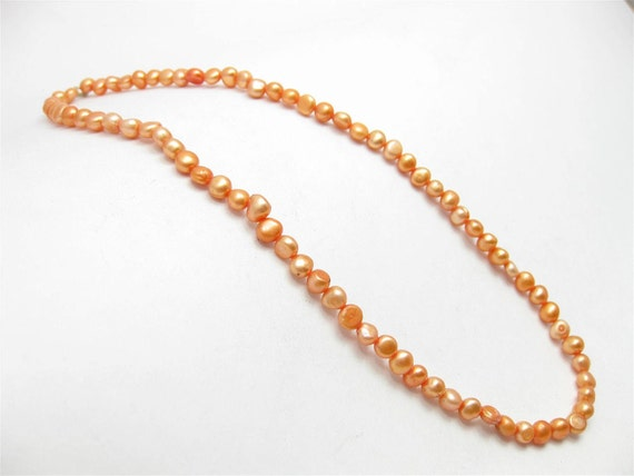 Fresh Water Pearl - tangerine