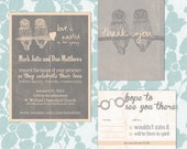 Owl and Spectacles Commitment Ceremony or Wedding Suite Printable