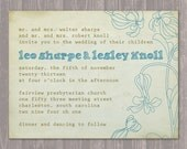 Brown and Blue Rustic Wedding or Commitment Ceremony Invitation Printable and Personalized