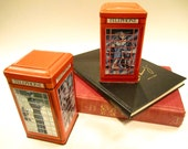 Vintage Ian Logan Collectible Telephone Booth Tins