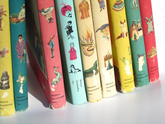 30% Off Sale-- Set of 11 Vintage Best in Children's Books