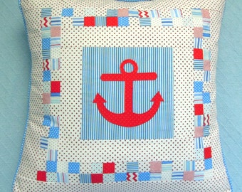 Anchor Pillowcover Pattern: Anchored in Happy
