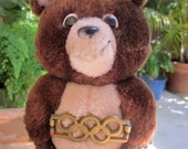Vintage Olympics Misha Bear Stuffed Animal Toy official mascot 1980 Summer Olympics