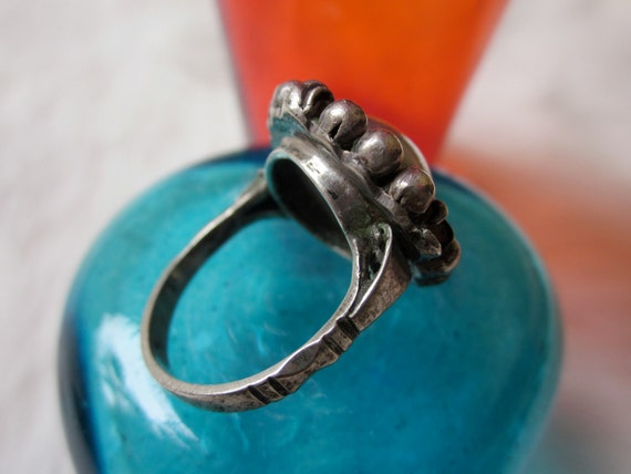 Vintage Stamped Cellini's Sterling Silver 800 Florence Italy Flower Ring