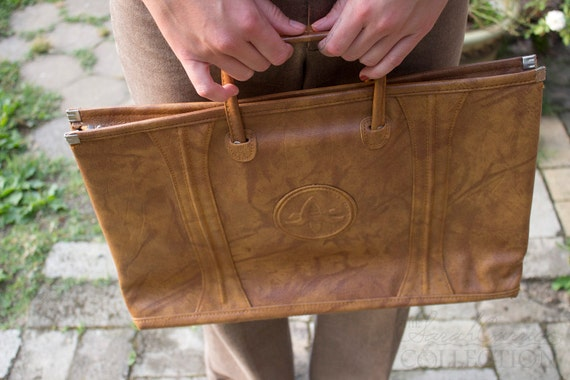 Vintage American Luggage Tourister , Laptop Case