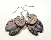 3 penny cats - polymer clay cat earrings