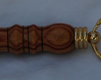 Tulipwood Secret Compartment Keychain