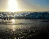 Waves and Sunset at Pismo Beach California